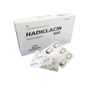 Thuốc hadiclacin 500mg là loại thuốc gì? có tác dụng gì? giá bao lăm tiền?