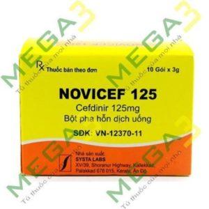 Thuốc novicef 125mg là loại thuốc gì? chữa trị bệnh gì? giá bao lăm tiền?